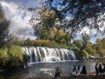 Wasserfälle Kacuse Lizenzfreies Stockfoto