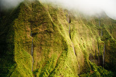 Wasserfälle Kauai-Mt. Waialeale im Regen Stockfotos