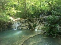 Wasserfälle, Krushuna-Wasserfälle, Natur stockfoto