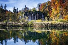Wasserfälle Plitvice im Nationalpark Stockbilder