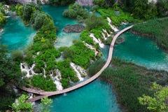 Wasserfälle Plitvice im Nationalpark Lizenzfreie Stockfotos