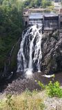 Wasserfälle in Riviere du Loup lizenzfreies stockbild