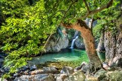 Wasserfälle in Samothraki Vathres in Nord-Griechenland Stockbilder