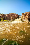 Wasserfälle in Sioux Falls, South Dakota, USA Stockbild