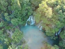 Wasserfälle tamasopo Mexiko lizenzfreies stockfoto