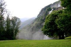 Wasserfälle und Bäume Stockbild