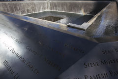 Wasserfall-Abdruck von WTC, Staatsangehörig-am 11. September Denkmal, New York City, New York, USA Lizenzfreie Stockbilder