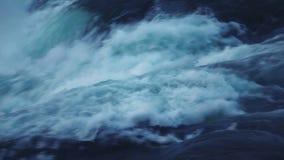 Wasserfall am Abend stock footage