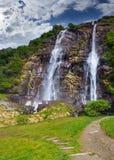 Wasserfall Acquafraggia Lizenzfreies Stockfoto