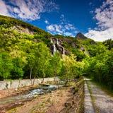 Wasserfall Acquafraggia Lizenzfreies Stockbild