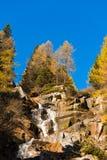 Wasserfall - Adamello Trento Italien Stockbild