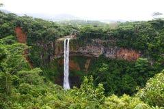 Wasserfall in Afrika stockbild