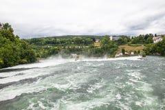 Wasserfall auf dem Rhein Stockfotografie