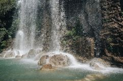 Wasserfall auf dem Schlosshügel, Nizza, Frankreich stockfoto