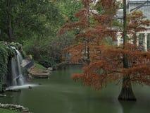 Wasserfall auf dem See Stockbilder
