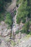 Wasserfall auf felsiger Klippe, Berg Rainier National Park, stockbild