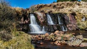 Wasserfall auf Knockluga-Berg stockbilder
