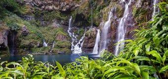 Wasserfall auf Langevin Fluss Stockfotos