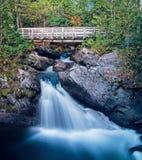 Wasserfall auf provinziellem Park Williams Brook At Mount Carletons stockbild