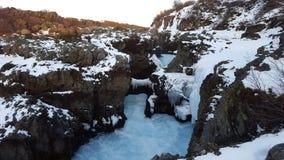 Wasserfall Barnafoss Island Lizenzfreies Stockfoto