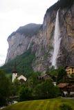 Wasserfall bei Lauterbrunnen Stockfotografie