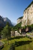 Wasserfall bei Lauterbrunnen Lizenzfreies Stockfoto