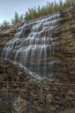 Wasserfall bei Le Cres, Frankreich Lizenzfreie Stockfotos