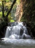 Wasserfall bei Monasterio de Piedra Stockbild