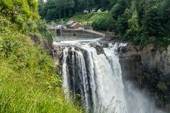 Wasserfall bei Snoqualmie Stockfotos