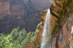 Wasserfall bei Zion National Park Lizenzfreies Stockbild