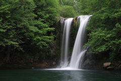 Wasserfall bekannt als Santa Margarida Stockbilder