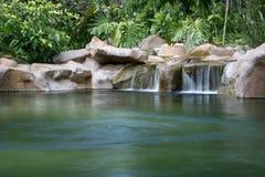Wasserfall - botanische Gärten, Singapur Stockfoto