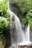 Wasserfall in botanischem Garten Cibodas, Puncak Lizenzfreie Stockbilder