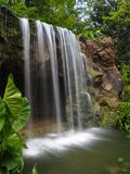 Wasserfall am botanischen Garten Lizenzfreies Stockfoto