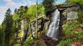 Wasserfall Bystre in Polana-Region, Slowakei stockfotografie