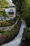 Wasserfall in Camden, Maine USA stockfotografie