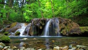 Wasserfall in Cheile Nerei lizenzfreies stockbild