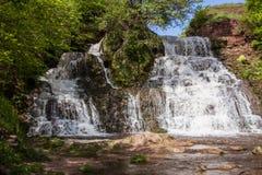 Wasserfall Chervonograd in Ternopil-Region, Ukraine Stockbild