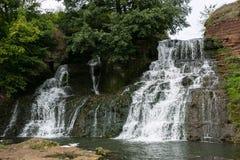 Wasserfall Chervonograd in Ternopil-Region, Ukraine Lizenzfreies Stockbild
