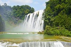 Wasserfall Chinas Guizhou Huangguoshu im Sommer stockfotos