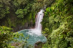 Wasserfall in Costa Rica stockbild