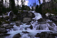 Wasserfall in den hohen tatras Stockfoto