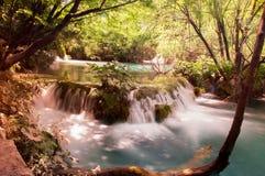 Wasserfall an den Plitvice Seen Lizenzfreie Stockfotografie