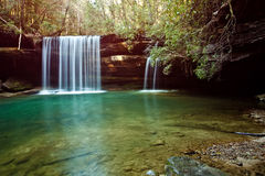 Wasserfall in den Wald Stockbilder