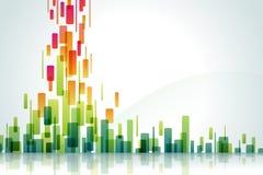 Wasserfall der Farbe Lizenzfreie Stockfotografie
