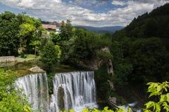 Wasserfall in der Stadt Lizenzfreies Stockfoto