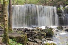 Wasserfall der steilen Böschung Stockfotografie