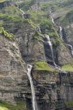 Wasserfall, die Alpen Stockfotografie