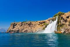 Wasserfall Duden in Antalya die Türkei Stockbilder