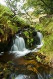 Wasserfall edale Dorf Stockbilder